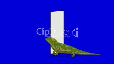 Letter I and Iguana (foreground)