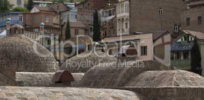 Domes of GeorgianThermal Bath in Tbilisi, Georgia
