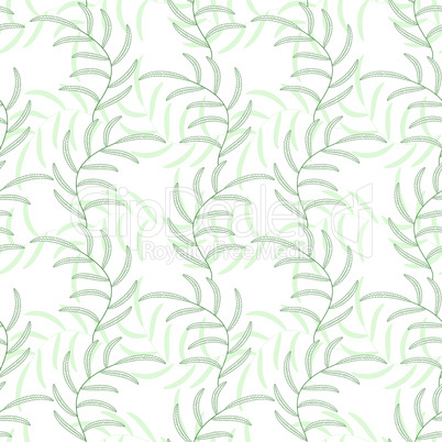 Leaf floral abstract seamless vector background pattern. Fabric texture design. Filigree tile.