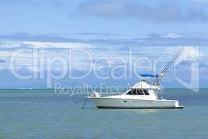Motor boat at the Ocean