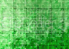 Horizontal green extruded cubes illustration background