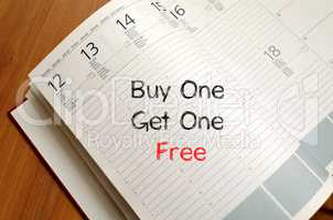 Buy one get one free write on notebook
