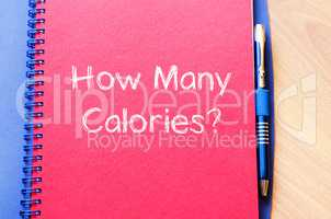 How many calories write on notebook