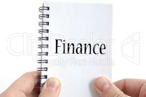 Finance text concept
