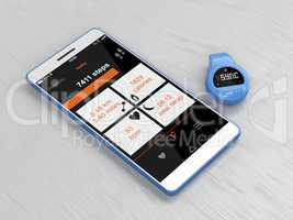 Activity tracker and smartphone