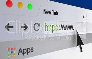 web browser address bar