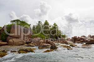 Tropical island St. Pierre, Seychelles