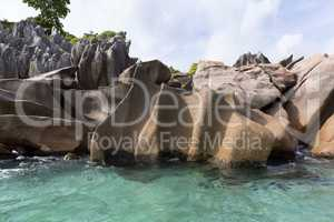 Granite coast at tropical island St. Pierre, Seychelles