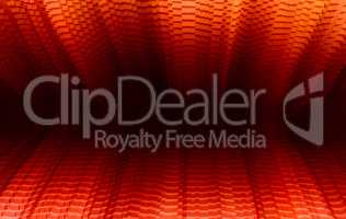 Horizontal vibrant vivid red business presentation 3d extruded c