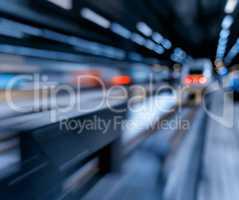 Rushing train abstraction bokeh
