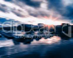Norway yacht at Trondheim abstraction