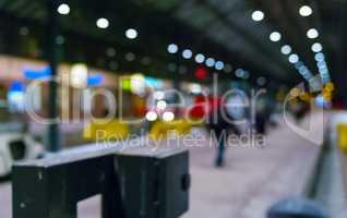 Horizontal vibrant trainstation bokeh background backdrop