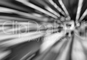 Horizontal black and white abstract motion train station transpo