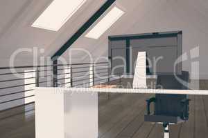 Office furniture in attic