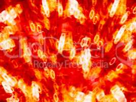 Horizontal orange red lava bokeh background