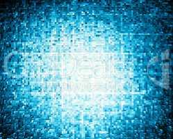 Horizontal blue extruded 3d cubes illustration background