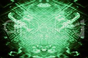 Diagonal blue computer pcb abstract illustration background