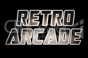 Sepia retro arcade text illustration background