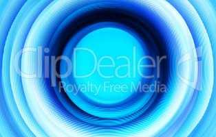 Extruded blue 3d swirl teleport illustration background