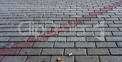 Tiled grey bricks with line