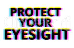 Protect your eyesight illustration backdrop