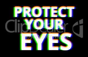 Protect your eyes illustration background