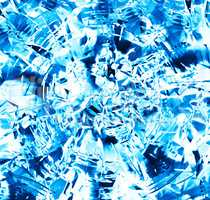 Square blue frozen ice blurred abstraction backdrop