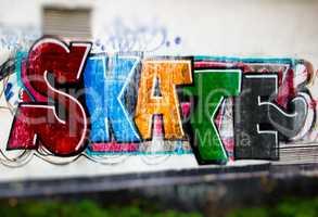 Skate wall graffiti