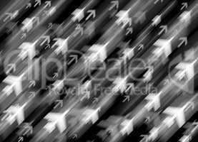 Diagonal travel by jet transportation illustration background