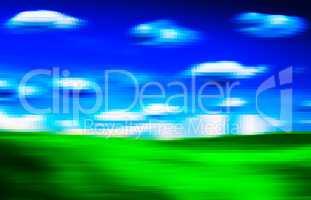 Horizontal vivid digital 3d extruded landscape background