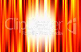Vertical orange curtains with light glow illustration background