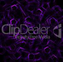 Purple outline twirl abstraction backdrop