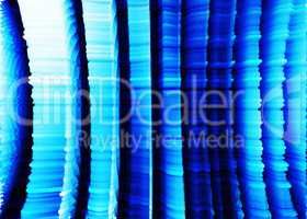 Vertical blue 3d extruded cave walls landscape background
