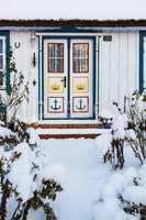 Haus in Born im Winter