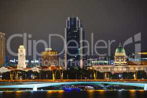 Overview of Singapore at night