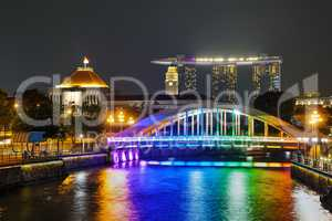 Overview of Singapore with the Elgin bridge