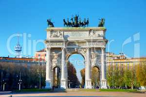 Arch of Peace in Milan, Italy