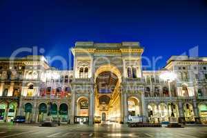 Galleria Vittorio Emanuele II shopping mall entrance in Milan, I