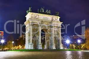 Arch of Peace (Porta Sempione) in Milan