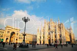 Duomo cathedral in Milan, Italy