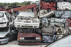 Baled scrap cars