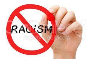 Racism Prohibition Sign Concept