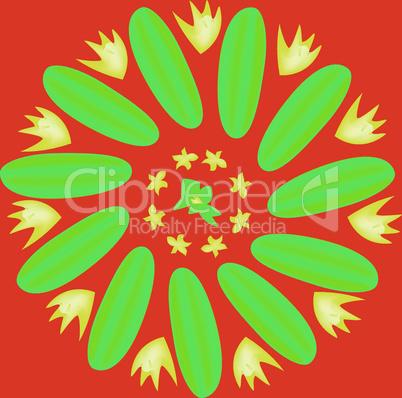 Flower cucumber.