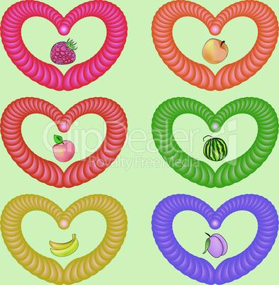 Fruit heart.