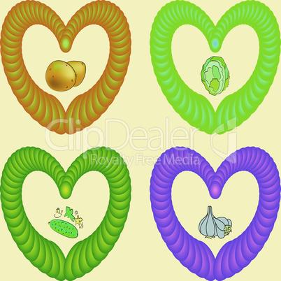 Vegetable hearts.