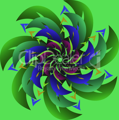 Large abstract flower.