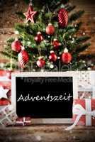 Christmas Tree With Adventszeit Means Advent Season