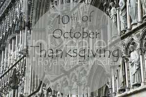 Church Of Trondheim, Text October Thanksgiving