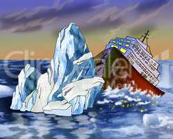 Sinking Ship and Iceberg