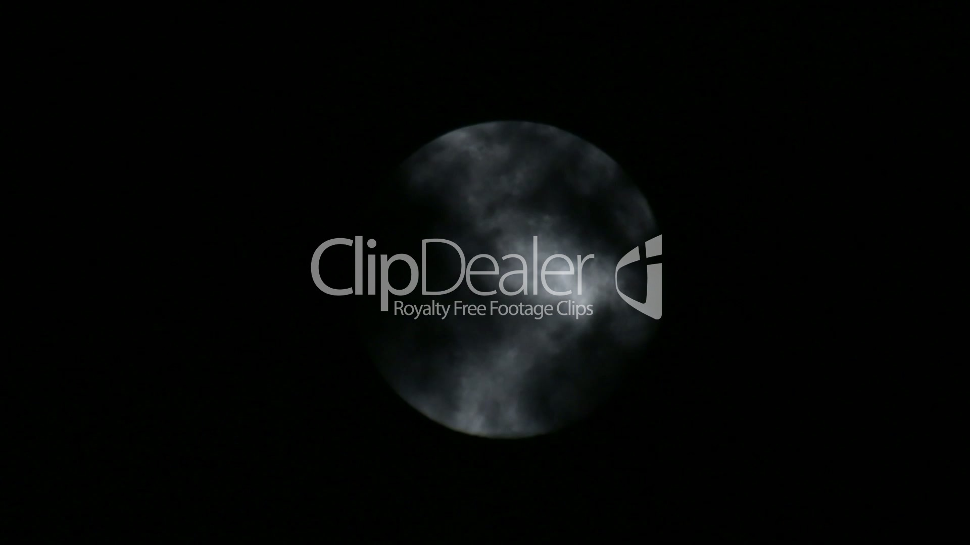 Scary Full Moon and Dark Clouds at Night: Royalty-free video